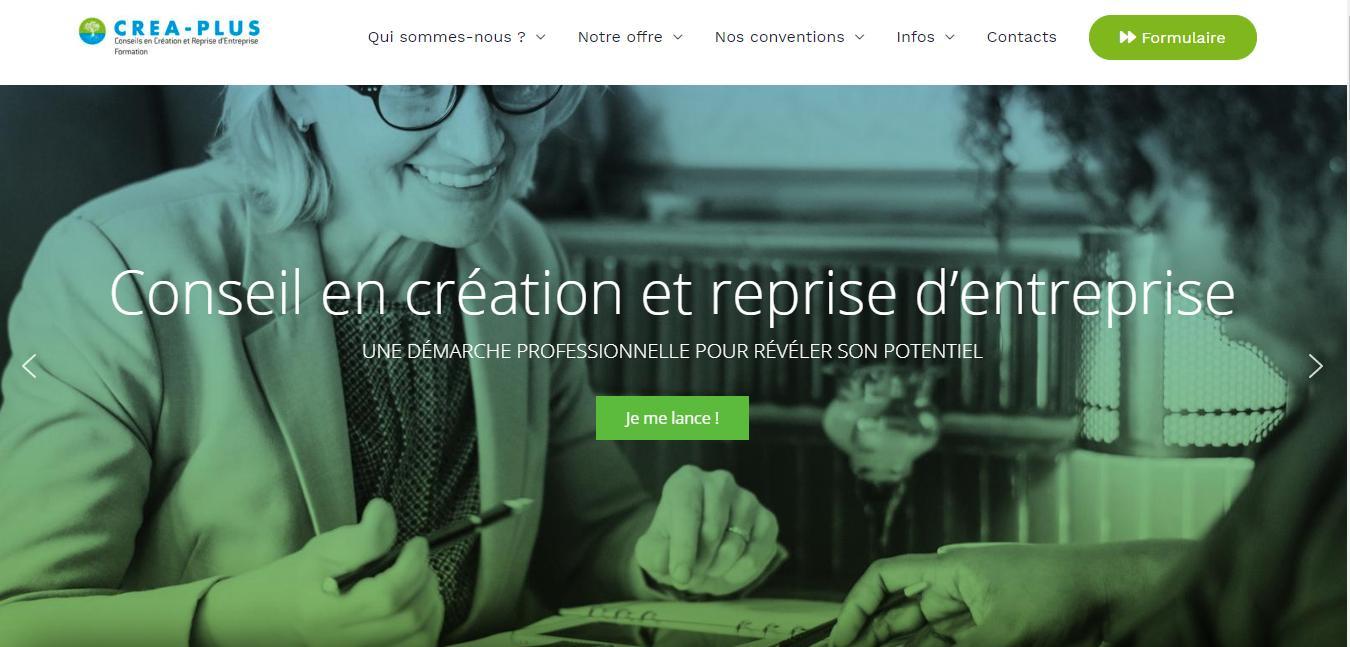 crea-plus création site internet Sextant Creative