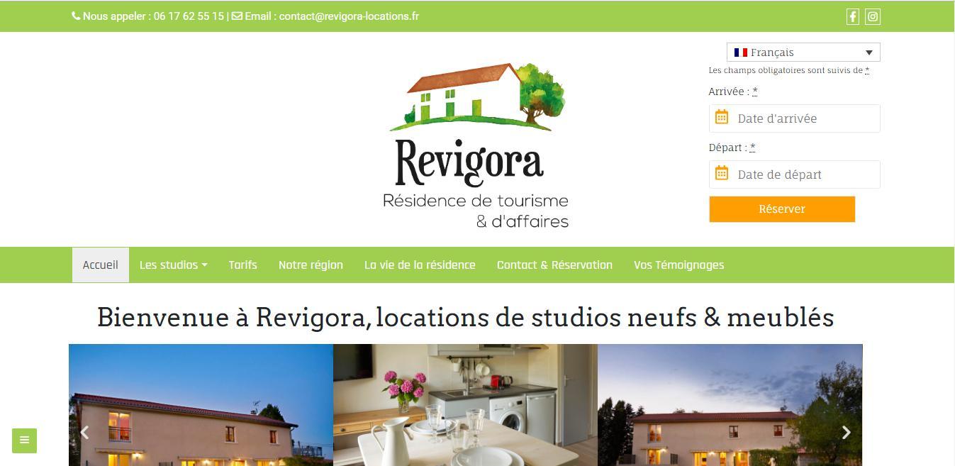 revigora location création site internet accueil