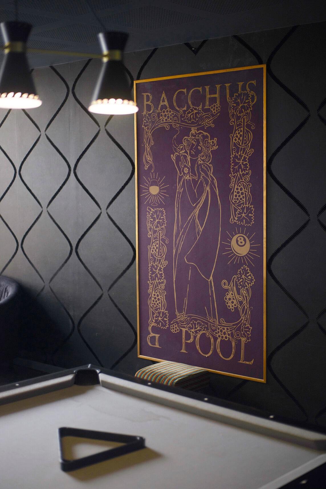 Bacchus n' Pool Déco Sextant Creative